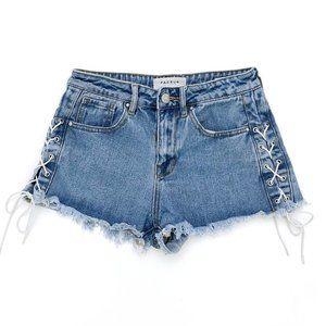 PACSUN Women's Hi Rise Jean Shorts 25